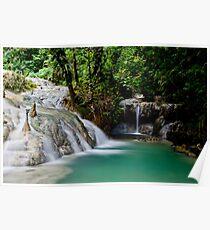 Calming flowing waterfall and pool, Vanuatu, South Pacific Ocean Poster