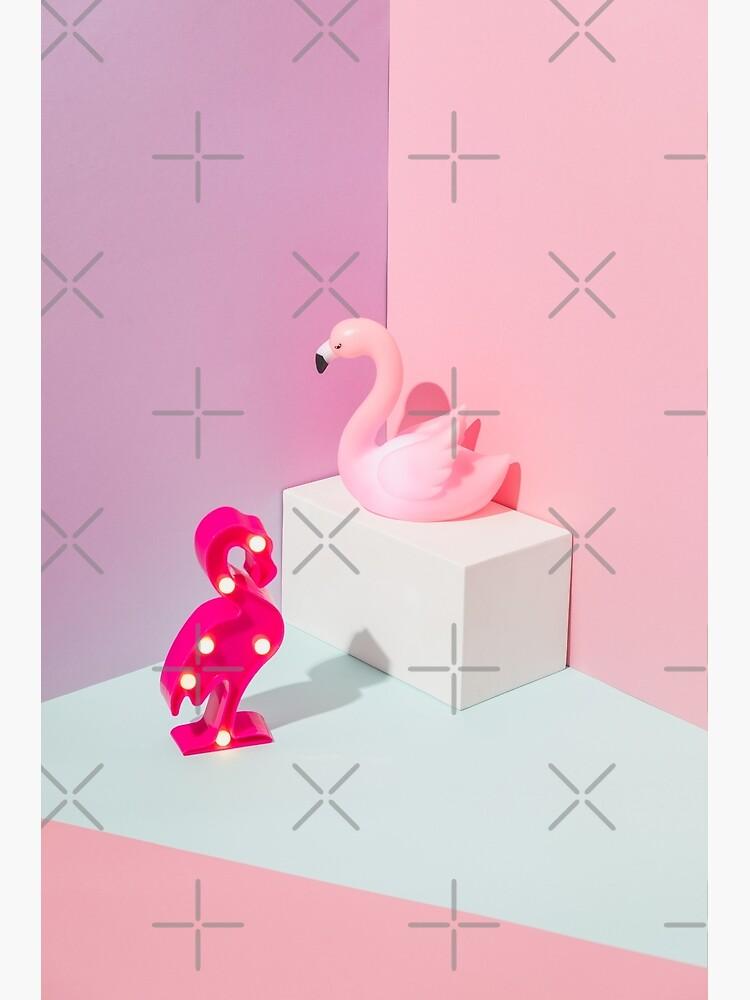Plastic Flamingos by KatyaHavok