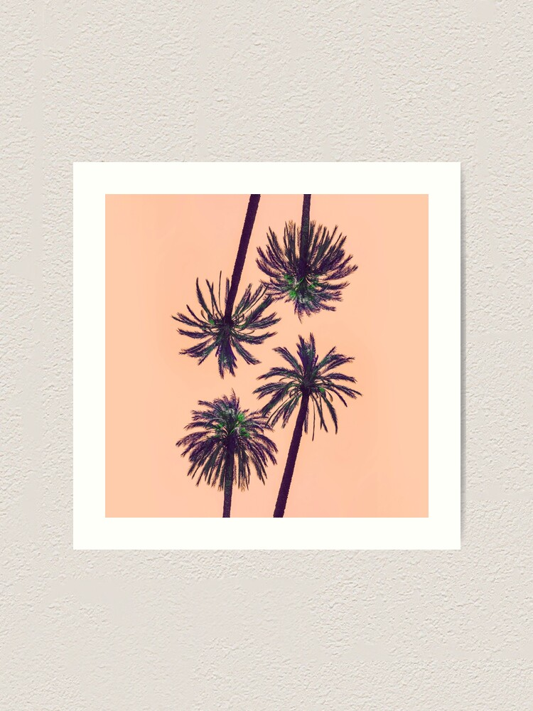Alternate view of Palms Art Collage Art Print