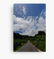 Landscape and tarmac road, Vanuatu, South Pacific Ocean Canvas Print