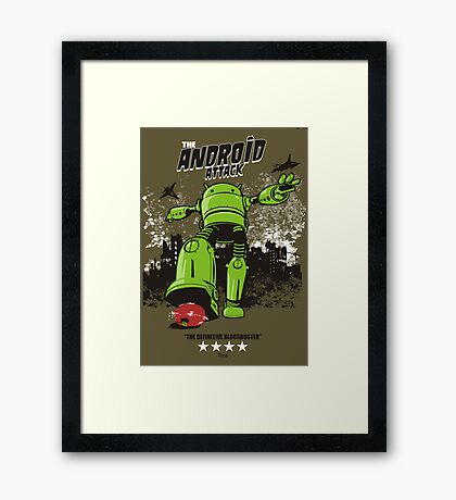 ANDROID ATTACK Framed Print