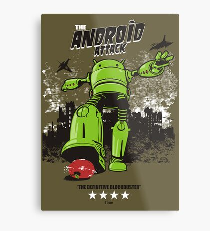 ANDROID ATTACK Metal Print