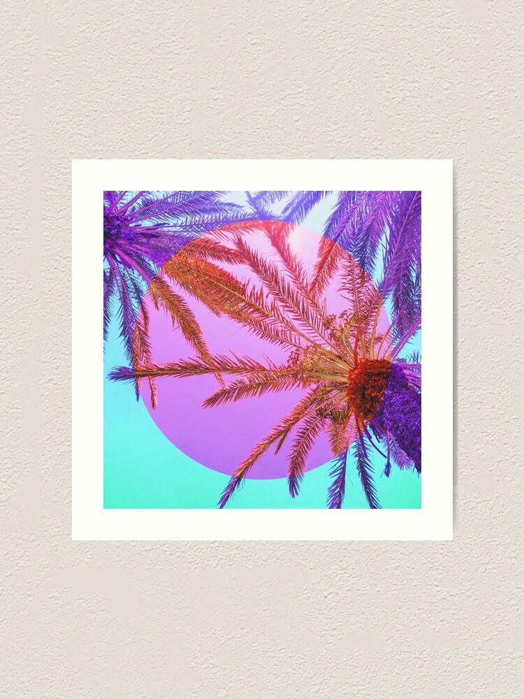 Alternate view of Bright Palms Art Print