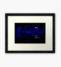 Reflections in Blue - Abstract Framed Print