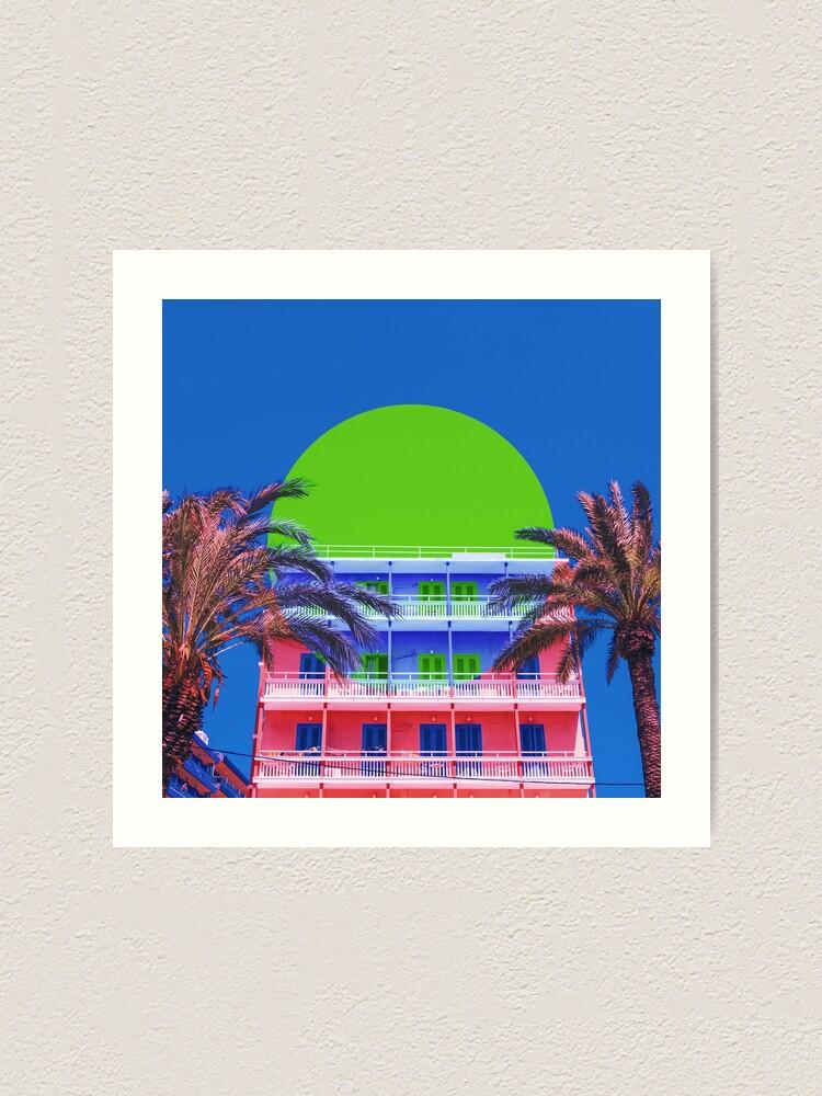 Alternate view of Summer Hotel Art Print