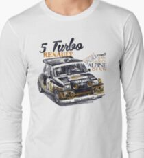 Rallye-Gruppe B-Renault 5 Turbo Langarmshirt