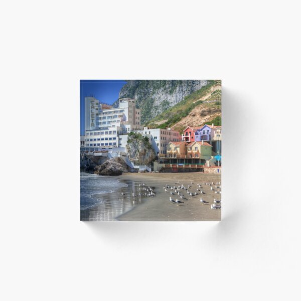 Caleta Hotel At Catalan Bay Gibraltar Acrylic Block