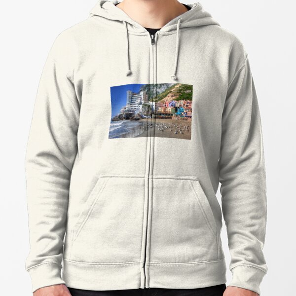 Caleta Hotel At Catalan Bay Gibraltar Zipped Hoodie