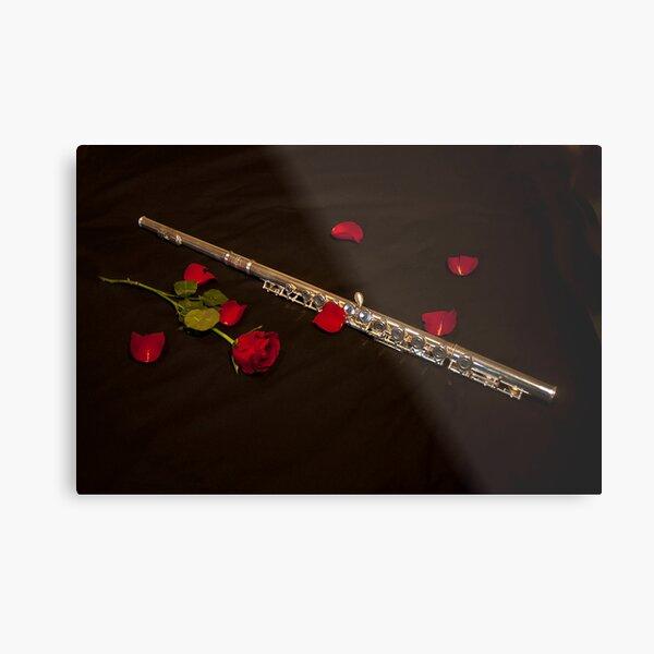 Love the Flute Metal Print