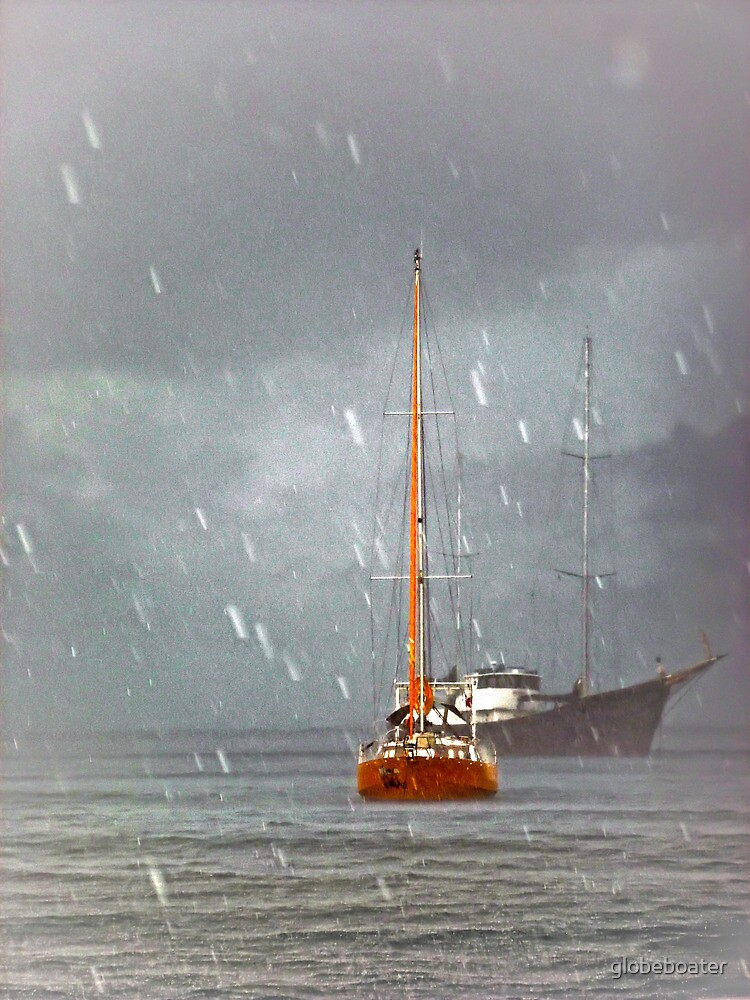 Riding out a rainstorm by globeboater