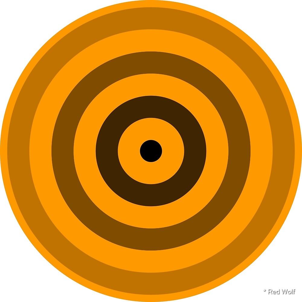 Geometric Pattern: Rondel: Black Gradient Orange by * Red Wolf
