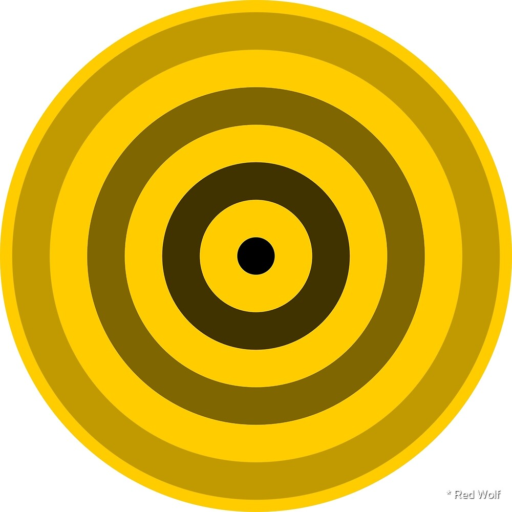 Geometric Pattern: Rondel: Black Gradient Yellow by * Red Wolf