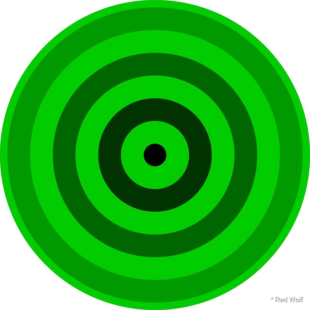Geometric Pattern: Rondel: Black Gradient Green by * Red Wolf