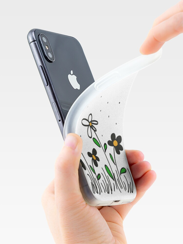 Alternate view of Daisy Doodles iPhone Case & Cover