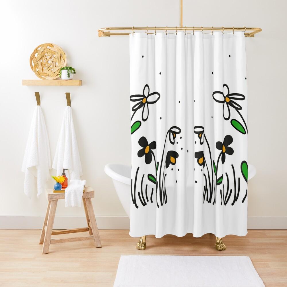 Daisy Doodles Shower Curtain