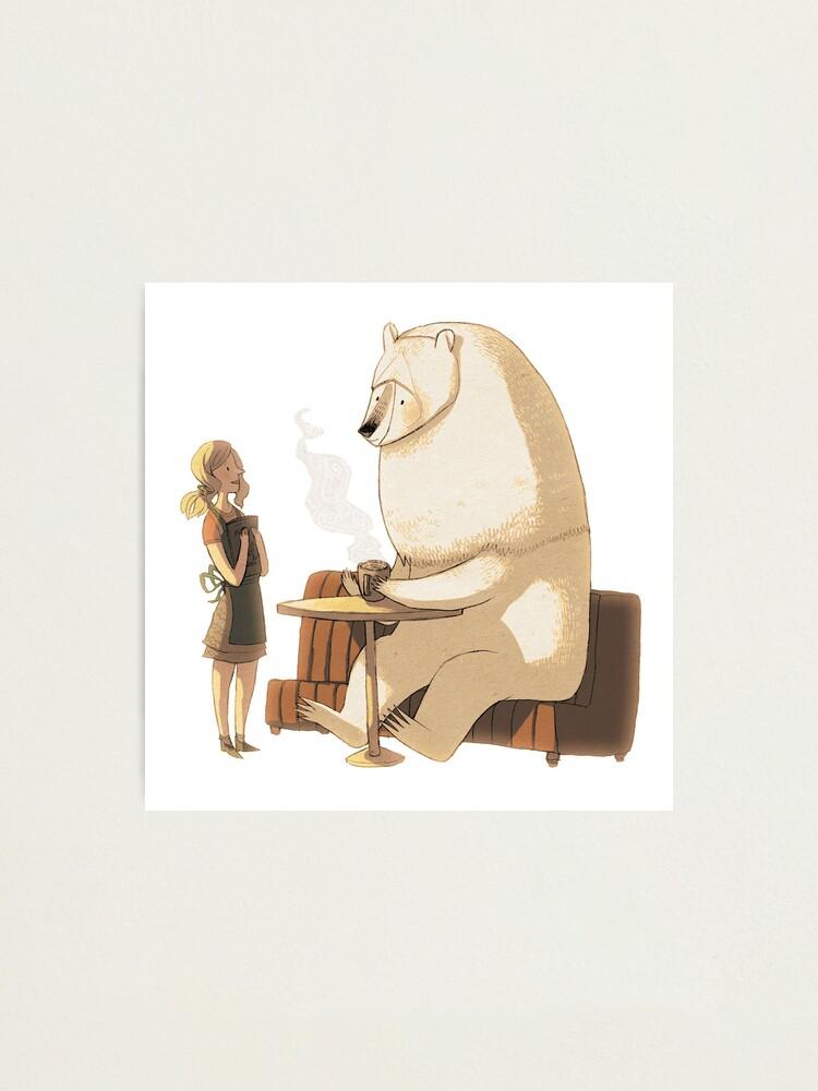 Alternate view of Polar Bear Coffee Break Photographic Print