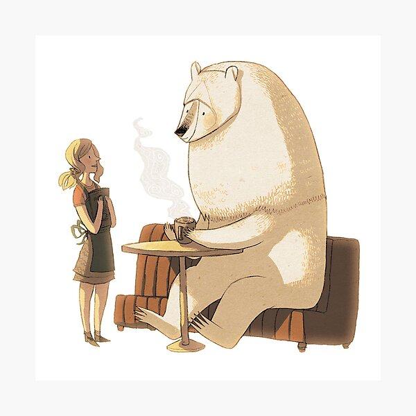 Polar Bear Coffee Break Photographic Print