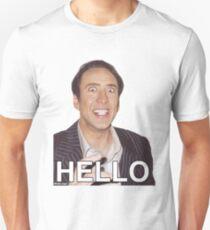 Nicolas Cage - HELLO Sticker T-Shirt