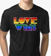 Love Wins Rainbow Gay Homosexual Lesbian Tri-blend T-Shirt