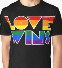 Love Wins Rainbow Gay Homosexual Lesbian Graphic T-Shirt