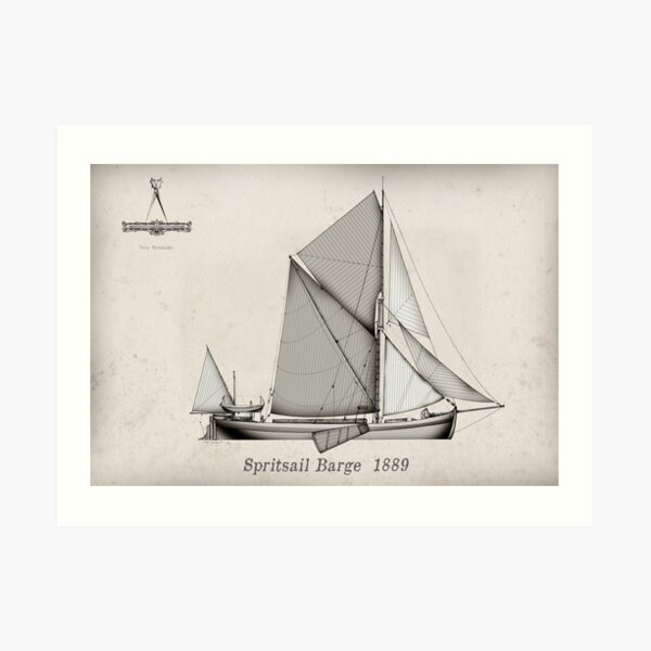 Vintage Spritsail Barge Art Print