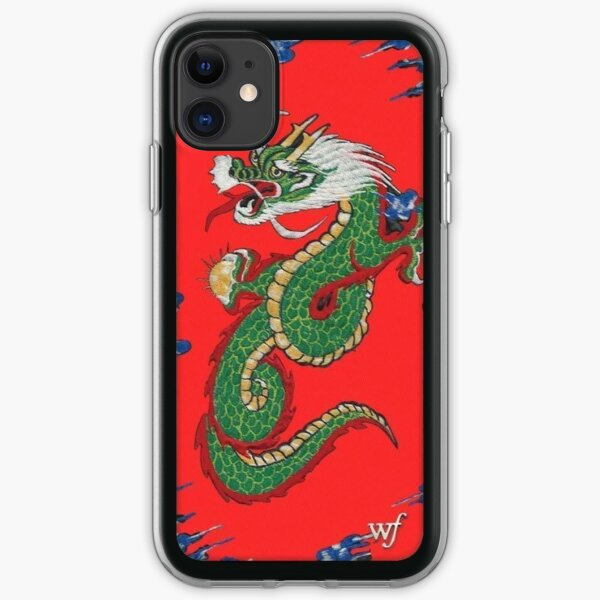 Wildflower iPhone Case- Red Dragon Print iPhone Soft Case