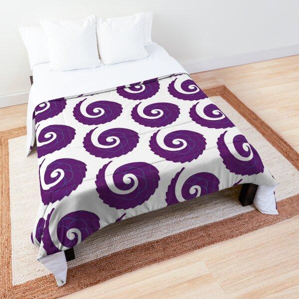 Spiral Seashell Nautilus - Purple Comforter
