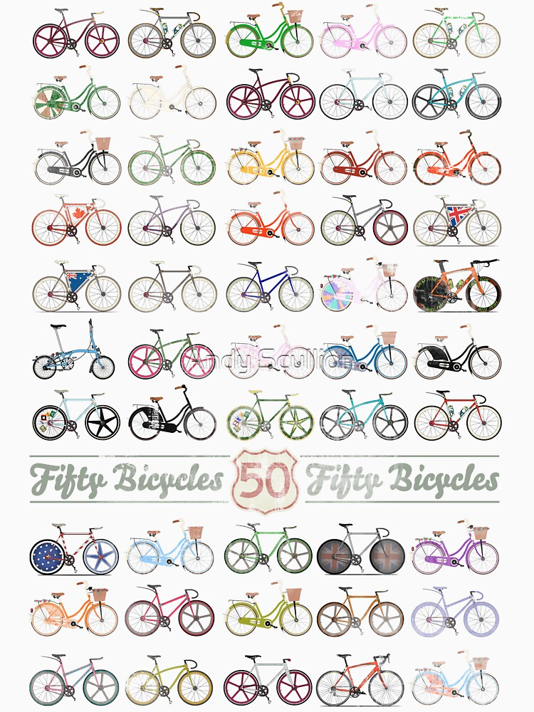 Fifty Bicycles by AndyScullion