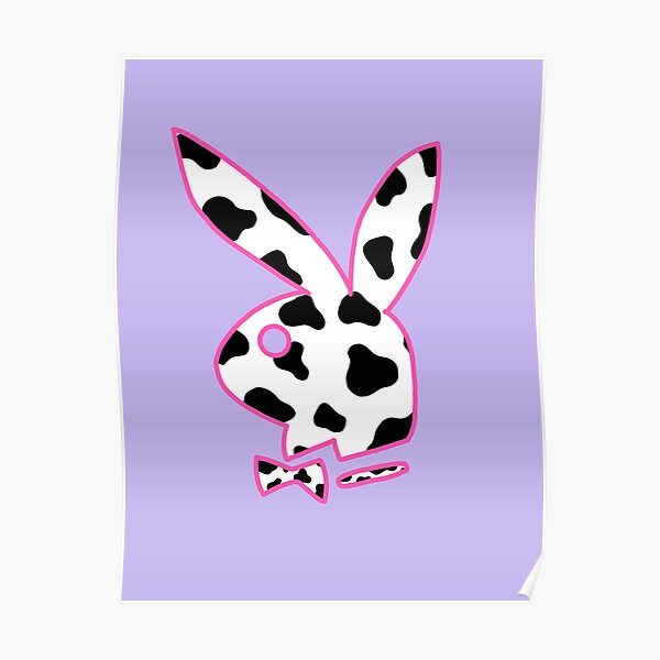 cow print bunny 90s Poster