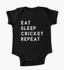 Eat Sleep Cricket Repeat One Piece - Short Sleeve