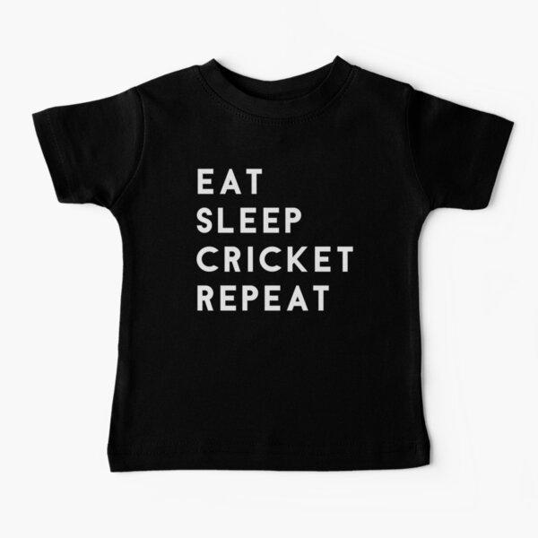 Eat Sleep Cricket Repeat Baby T-Shirt