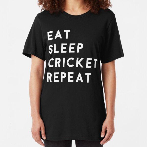 Eat Sleep Cricket Repeat Slim Fit T-Shirt
