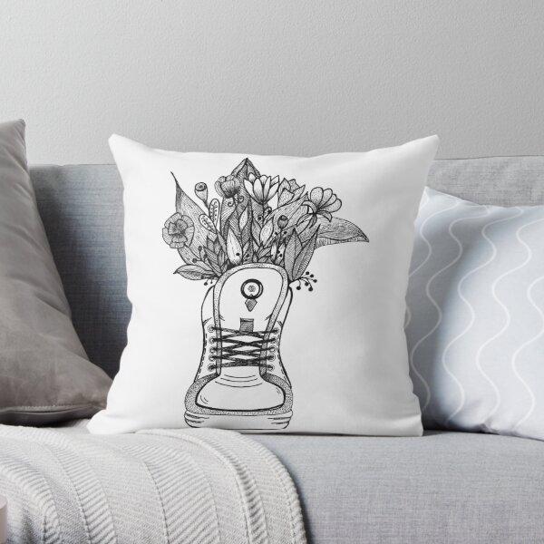 Basket fleurie Coussin