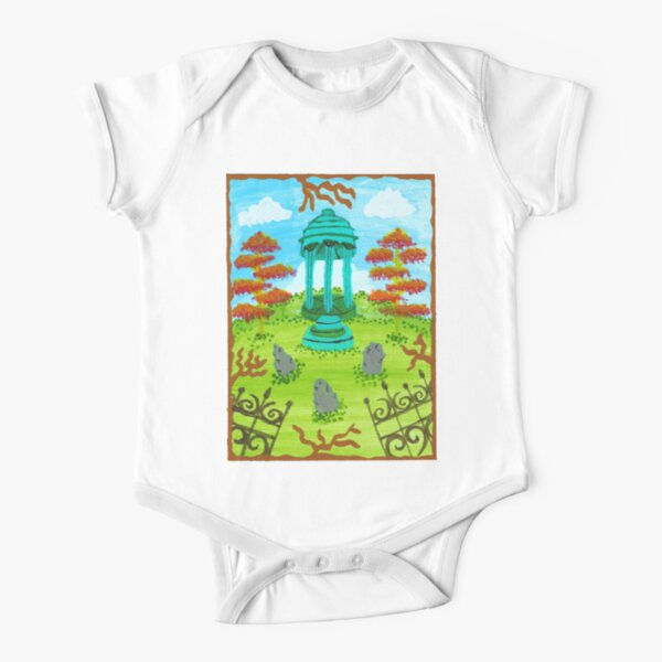 Colorful Graveyard Short Sleeve Baby One-Piece
