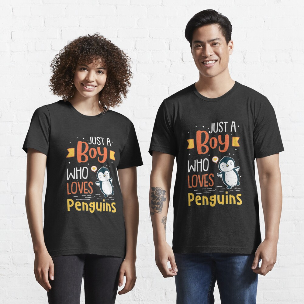 Just A Boy Who Loves Penguins - Funny Penguin Essential T-Shirt