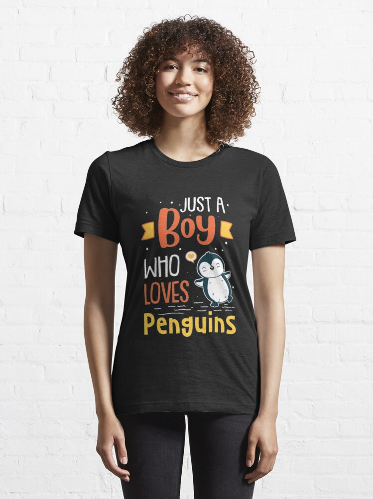 Alternate view of Just A Boy Who Loves Penguins - Funny Penguin Essential T-Shirt