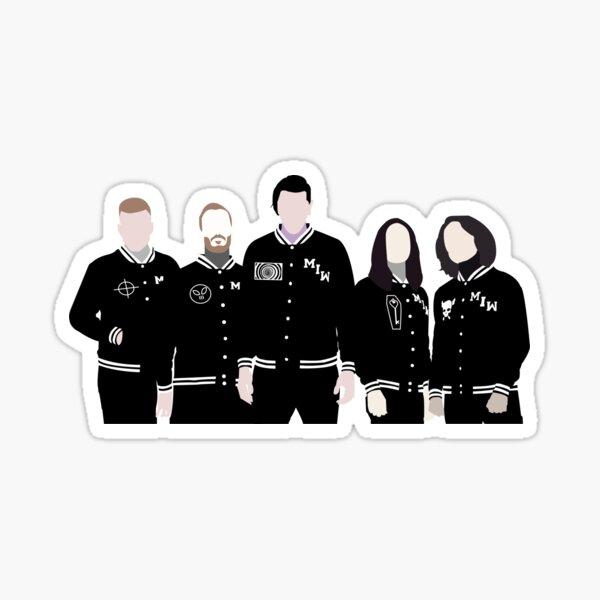 Motionless in White Member Outlines Sticker
