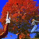Andre & Kaitlyn tossing leaves by RockyWalley