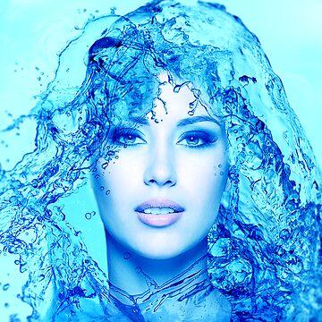 Water Effect Portrait by Kalashnikov3395