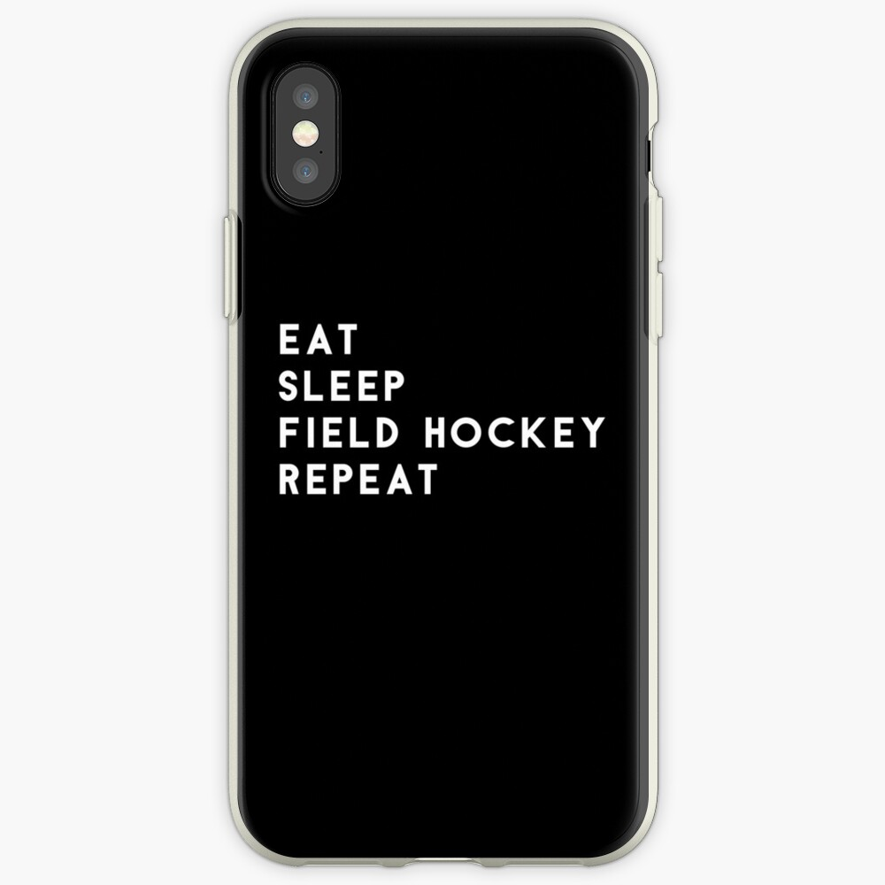 Eat Sleep Field Hockey Repeat iPhone Cases & Covers