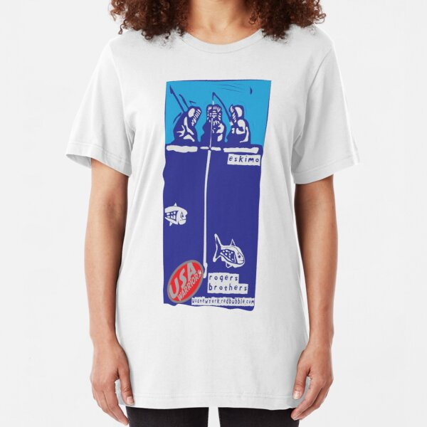 usa warriors eskimo by rogers bros Slim Fit T-Shirt