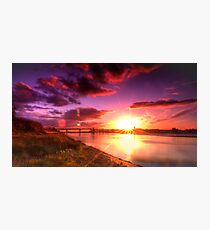 A Mersey Sunset Photographic Print