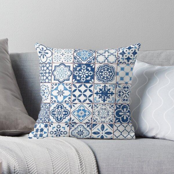 Portuguese Azulejos Throw Pillow