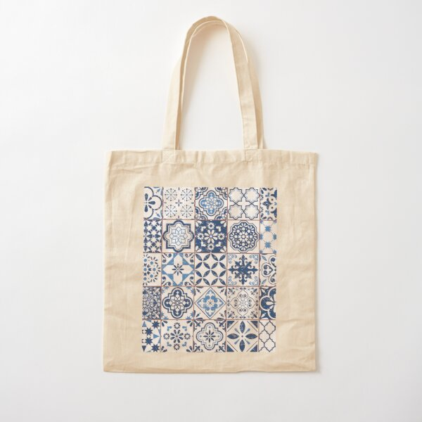 Portuguese Azulejos Cotton Tote Bag