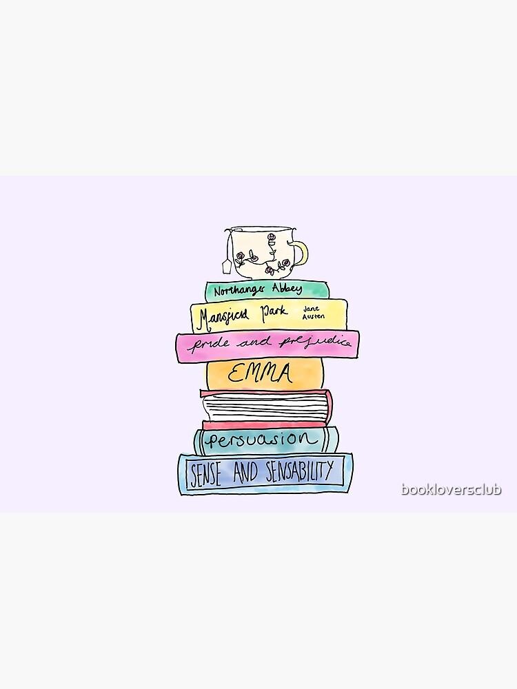 Jane Austen book stack by bookloversclub