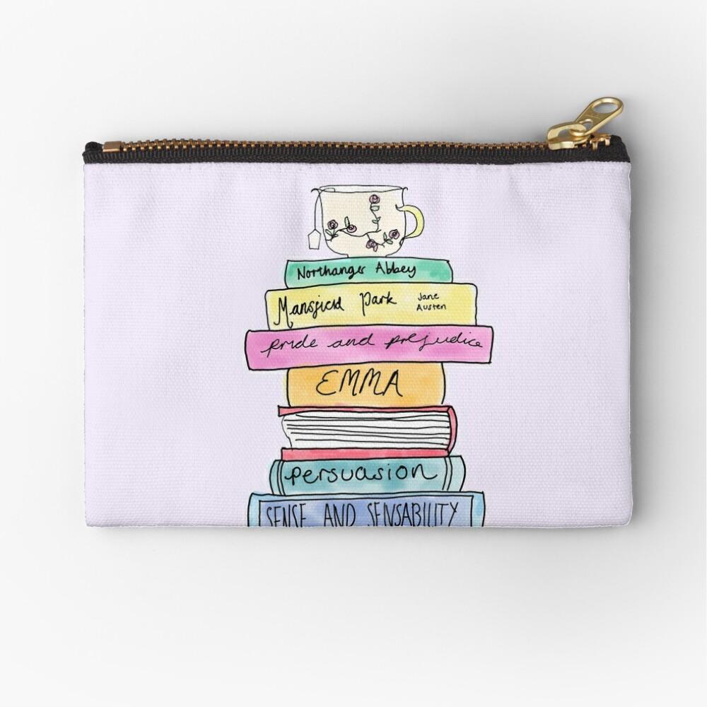 Jane Austen book stack Zipper Pouch