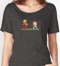 "Pixel Fighter ""Ken vs Ryu"" Women's Relaxed Fit T-Shirt"