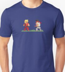 "Pixel Fighter ""Ken vs Ryu"" Unisex T-Shirt"