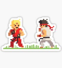 "Pixel Fighter ""Ken vs Ryu"" Sticker"