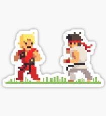 """Pixel Fighter """"Ken vs Ryu"""" Sticker"""